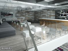#moderndesign #architecture #rendering #retail #shelves  www.thebowerygroup.com