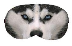 Husky Dog Sleep Eye Mask Masks Sleeping Night Blindfold Travel KIt Under Eye Eyes cover covers patch patches Slumber Eyewear wear Accessory by venderstore on Etsy