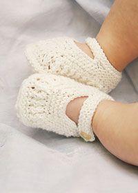 Erika Knight's baby booties free pattern