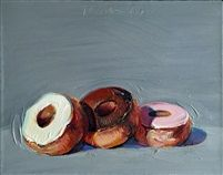 "Wayne Thiebaud | ""Three Donuts"" 