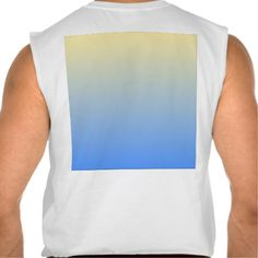 Gradient background light blue sleeveless tees Tank Tops