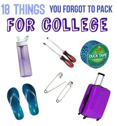 18 THINGS YOU FORGOT TO PACK FOR COLLEGE || CAROLINERENAE.COM