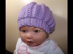 Crochet Baby Hat - YouTube tutorial