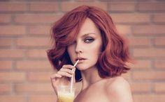Short red hair<3