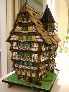 Beautiful gingerbread house. Reminds me of Chester.