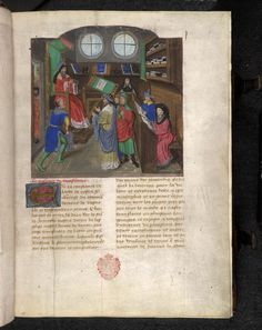 Miniature of Aristotle teaching Alexander the Great, from Nicolas Oresme (translator), Les Ethiques d'Aristote, Low Countries (Bruges), c. 1460 - c. 1480, Egerton MS 737, f. 1r - See more at: http://britishlibrary.typepad.co.uk/digitisedmanuscripts/2016/03/british-library-volunteer-programme-western-heritage-2016.html#sthash.mgckcJVg.dpuf