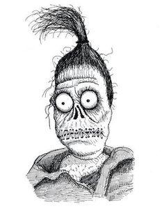 Beetlejuice Beetlejuice Tattoo, Beetlejuice Halloween, Style Tim Burton, Art Tim Burton, Shrunken Head Tattoo, Disney Drawings, Art Drawings, Movie Crafts, Beetlejuice