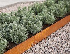 Kantstöd Gravel Landscaping, Modern Landscaping, House Landscape, Landscape Design, Steel Garden Edging, Love Garden, Garden Planning, Horticulture, Garden Inspiration