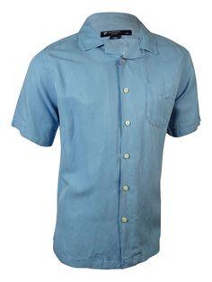 NEW Cremieux Sunwashed Silk/Linen Short Sleeve Shirt - XL Mayfair Blue #Cremieux…