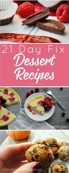 Part of any diet is avoiding too many sweets but these 21 day fix desserts are calculated and ready to go. You can have your sweets and still stay on track!
