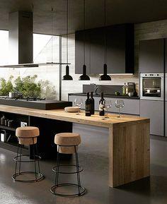 Kitchen Inspiration // Gicinque Cucine The Perfect Scandinavian Style Home – Modern Kitchen Room Design, Kitchen Cabinet Design, Modern Kitchen Design, Home Decor Kitchen, Interior Design Kitchen, Home Kitchens, Kitchen Designs, Kitchen Ideas, Kitchen Cabinets