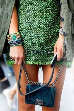 Want! Chanel velvet Boy bag