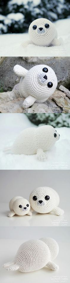 Bubbly The Baby Seal Amigurumi Pattern #Bubbles