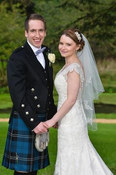 Real Bride Kimberley wore our two tier veil C243C with our sparkling side tiara TR1632A.