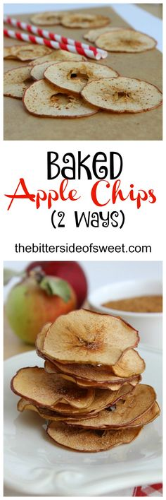 Baked Apple Chips are easy, healthy and so delicious! Made two ways with…