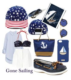 """""""Gone Sailing"""" by queenofsienna ❤ liked on Polyvore featuring Forever 21, Krewe, Henri Bendel, Zara, Dolce&Gabbana, Hollister Co., Sperry and summerhat"""