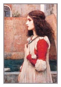 Juliet inspired by John William Waterhouse Counted Cross Stitch or Counted Needlepoint Pattern