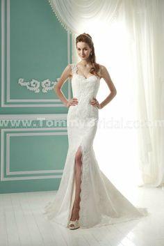 Jasmine F141058 Sheath Satin Wedding Gown