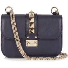 Valentino Lock small leather shoulder bag ($1,600) ❤ liked on Polyvore featuring…