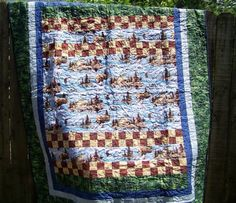 Hey, I found this really awesome Etsy listing at https://www.etsy.com/listing/76381065/twin-size-quilt-outdoor-scene-adirondack