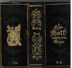 Altes dekoratives Gesangbuch 1881 mit Ornamenten Königsberg Ostpreußen