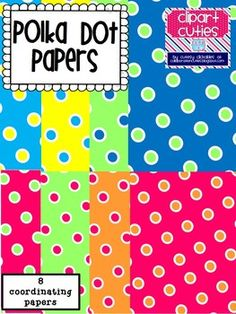Freebie Polka Dot Papers Pack! So cute! Download and use in your products!  :)
