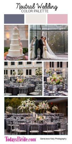 Neutral wedding color palette, grey and blush pink wedding, glamorous wedding, modern wedding inspiration real ohio wedding as seen on TodaysBride.com | Genevieve Nisly Photography, cleveland museum of art