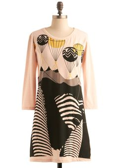 zebra/balloon dress?