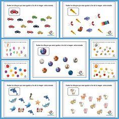 Fichas para estimular la atención en los niños: Rodea los iguales