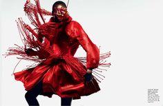Angelique Deng in Vogue China, December 2012. PH: John-Paul Pietrus