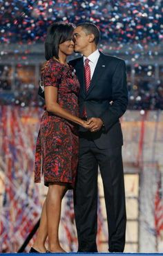 Barack and Michelle Obama.  2008 Democrat National Conference.