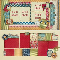 double page layout - 5 photos by fougere