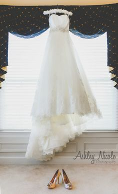 Traditional Wedding Details- Bridal gown and shoes