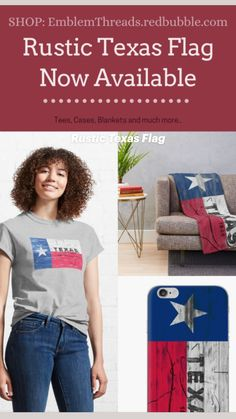 American Flag Decor, Texas Flags, Graphic Tee Shirts, Houston, Rustic, Pillows, Tees, T Shirt, Shopping
