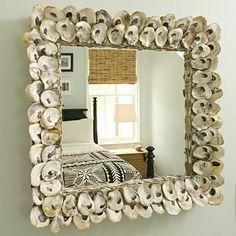 Oyster shell mirror~ fantastic!!