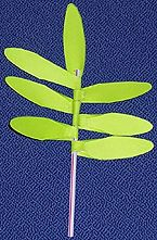 A Palm branch for kids to make for Palm Sunday - lent activity