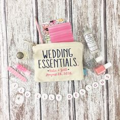 Our adorable makeup clutch bags are the perfect wedding favor for your bridal party! Fill them with wedding day essentials and makeup that your girls need for your big day!!