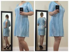This is a really pretty short-sleeve mini dress - perfect for any party! It's smooth, cute and has a lovely blue pastel coloured marble design.  Buy now at https://www.etsy.com/ca/shop/ClassyGiselleLauren?ref=hdr_shop_menu