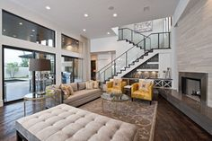 Contemporary Living Design Ideas, Pictures, Remodel and Decor Family Room Colors, Family Room Design, Family Rooms, Living Room Designs, Living Room Decor, Living Spaces, Living Rooms, Living Area, Contemporary Style Homes