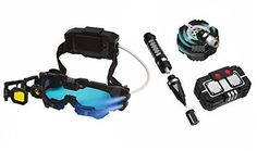 Spyx / Night Ranger Set: Night Mission Goggles/Micro Motion Alarm/Voice Disguiser/Invisible Ink Pen
