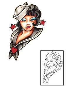 Traditional Tattoos DFF-00457 Created by Damien Friesz