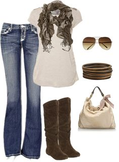 """""""Browns For Fall"""" by callico32 on Polyvore"""