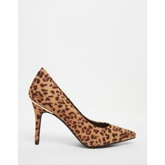 New Look Leopard Print Court Shoe (€28) ❤ liked on Polyvore featuring shoes, leopard shoes and leopard print shoes
