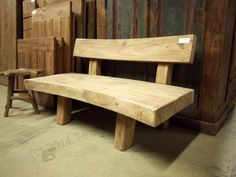 Tree trunk lounge bench - All About Wooden Furniture, Furniture Design, Outdoor Furniture, Outdoor Decor, Wood Creations, Dining Bench, Woodworking, Lounge, Wood Benches