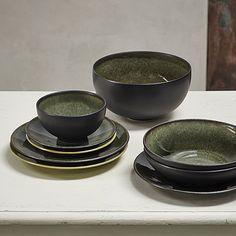 Jars Céramistes Collection Tourron, Samoa  Handmade ceramics The collection Tourron Samoa - a beautiful, iridescent dark green.