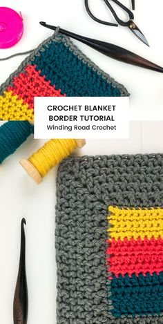 Crochet Border Patterns, Crochet Blanket Border, Knitting Patterns, Basket Weave Crochet Blanket, Knitting Looms, Loom Patterns, Chunky Crochet, Single Crochet, Easy Crochet