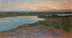 Eugene Jansson (1862-1915): Högsommarnatt (High summer night, view over Årstaviken), 1895