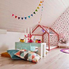 Beautiful kids bedroom with house frame bed. Source: Thebooandtheboy.com #kidsdecor #kidsroomstyle #nursery #kidsdecor #Padgram