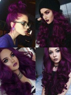 Haare Cabelo plum hair color - Hair Color Board Games: Still Fashionable Or T Gorgeous Hair Color, Hair Color Purple, Hair Dye Colors, Hair Color For Black Hair, Cool Hair Color, Dark Purple Hair, Violet Hair Colors, Purple Black Hair, Gorgeous Makeup