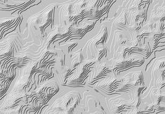 Illuminated and shadowed contour lines.